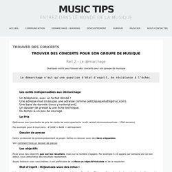 Comment trouver des concerts pour son groupe des musique