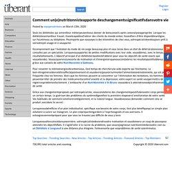 Comment un(e)nutritionnisteapporte deschangementssignificatifsdansvotre vie
