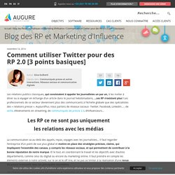 Comment utiliser Twitter pour des RP 2.0 [3 points basiques]