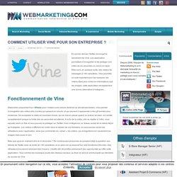 Webmarketing & co'mComment utiliser Vine pour son entreprise ?