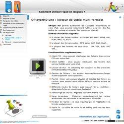 Comment utiliser l'ipad en langues? - OplayerHD: lecteur vidéo