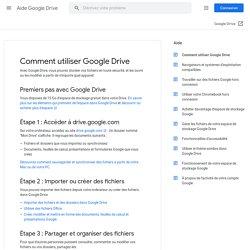 Comment utiliser GoogleDrive - Ordinateur - Aide GoogleDrive