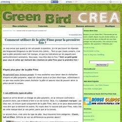 Comment utiliser de la pâte Fimo pour la première fois ? - Green Bird Créa
