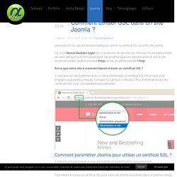 Comment utiliser SSL dans un site Joomla ?