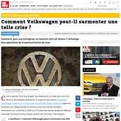 Comment Volkswagen peut-il surmonter une telle crise ?
