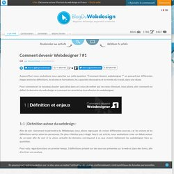 Comment devenir Webdesigner ? #1 - Blog Du Webdesign Magazine
