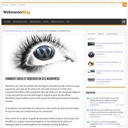 Comment créer un site web avec Wordpress et puis l'héberger