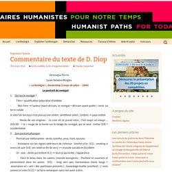 Commentaire du texte de D. Diop