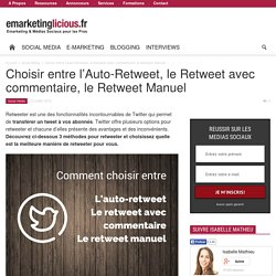 Choisir entre l'Auto-Retweet, le Retweet avec commentaire, le Retweet Manuel