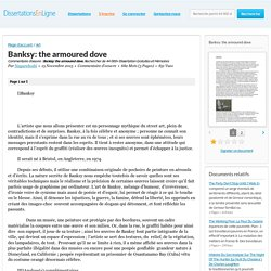 Banksy: the armoured dove - Commentaire d'oeuvre - Nagareboshi