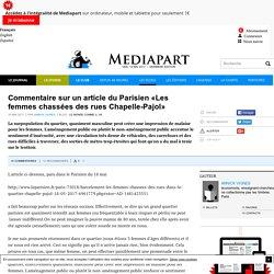 Commentaire sur un article du Parisien «Les femmes chassées des rues Chapelle-Pajol»