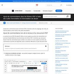 Ajout de commentaires dans les fichiers PDF à l'aide des outils d'annotation et d'annotation de dessin, AdobeAcrobat et Acrobat Reader