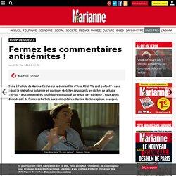 Fermez les commentaires antisémites !