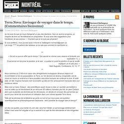 Terra Nova: Envisager de voyager dans le temps. (Commentaires bienvenus) – Normand Baillargeon