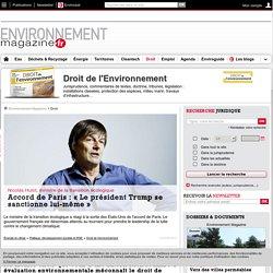 Actualité, dossiers et commentaires Droit de l'environnement