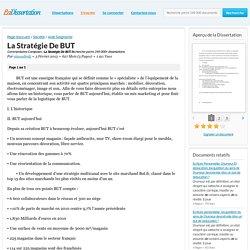 Doc 14: La Stratégie De BUT - Commentaires Composés - ninoushmlj