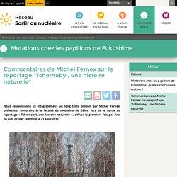 """Commentaires de Michel Fernex sur le reportage """"Tchernobyl, une histoire naturelle"""""""