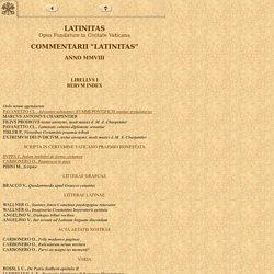 Commentarii Latinitas MMVIII