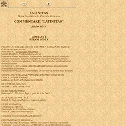 Commentarii Latinitas MMV - quater in anno prodeuntes