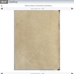 Beatus a Liebana , Commentarius in Apocalypsi... - Gallica mobile website