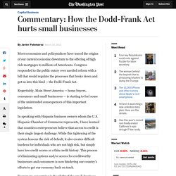 Commentary: How the Dodd-Frank Act hurts small businesses