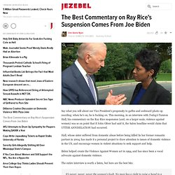 The Best Commentary on Ray Rice's Suspension Comes From Joe Biden