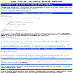 Code commenté de la Fonction Controle (1)