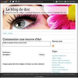 Commenter une oeuvre d'Art - Le blog de doc