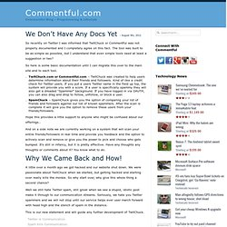 Easily keep track of blog comments and followups with Commentful