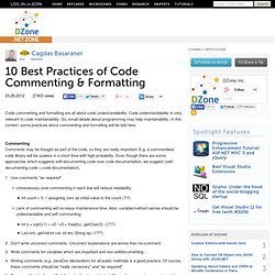 10 Best Practices of Code Commenting & Formatting