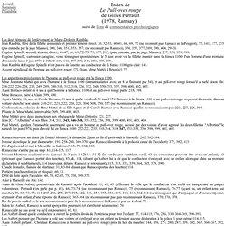 Index de Le Pull-over rouge, de Gilles Perrault suivi de liens et de commentqires psychologiques