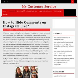How to Hide Comments on Instagram Live?