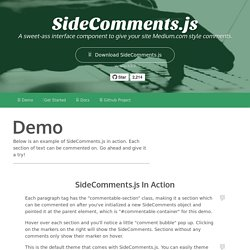 Side Comments - Medium.com style commenting