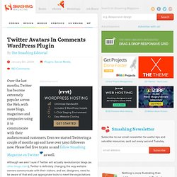 Twitter Avatars In Comments Wordpress Plugin