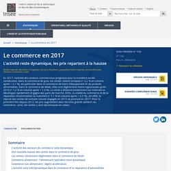Le commerce en 2017 - Insee Première - 1702