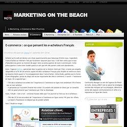 E-commerce : ce que pensent les e-acheteurs Français
