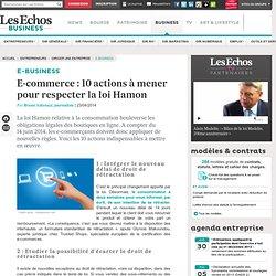 E-commerce : 10 actions à mener pour respecter la loi Hamon