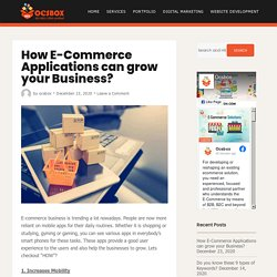 How E-Commerce Applications can grow your Business? - Ocsbox