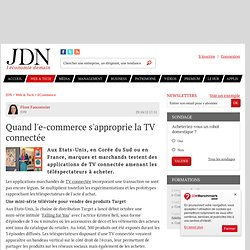 Quand l'e-commerce s'approprie la TV connectée
