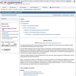 Code de commerce - Article L123-16