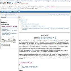 Code de commerce - Article L612-4