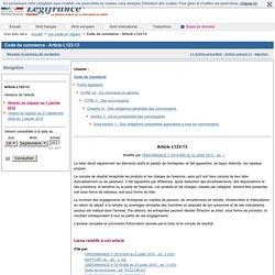 Code de commerce - Article L123-13