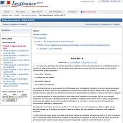 Information sur les conditions de prestation de service