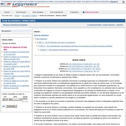 Code de commerce - Article L442-6