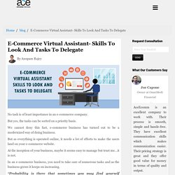 E-Commerce Virtual Assistant- Skills To Look And Tasks To Delegate
