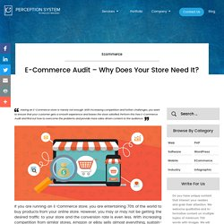 E-Commerce Audit - Why Does Your Store Need It?