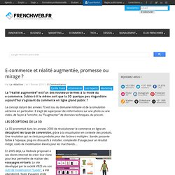 E-commerce et r?alit? augment?e, promesse ou mirage ?