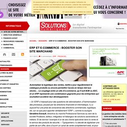 ERP et e-commerce : booster son site marchand