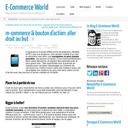 m-commerce & bouton d'action: aller droit au but | E-Commerce World