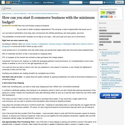 How can you start E-commerce business with the minimum budget? by Bhavitra HostBD